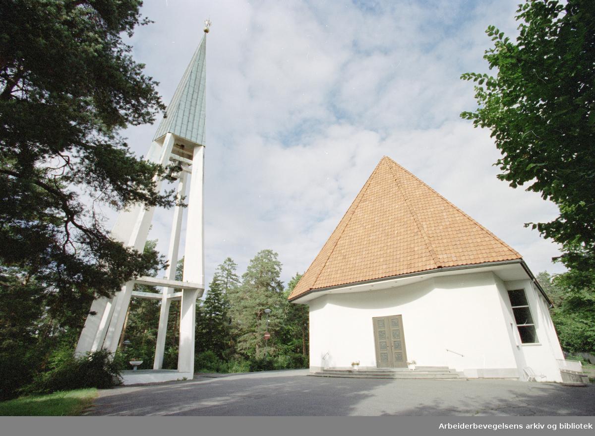 Bygdøy kirke. 3. september 1996