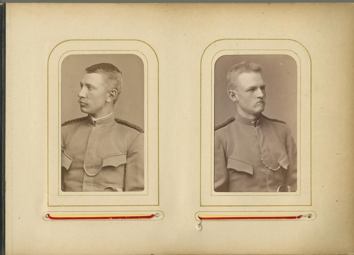 Porträtt av Carl August Hugo Jungstedt, underlöjtnant vid Fortifikationen.  Se även bild AMA.0007667 och AMA.0007668.