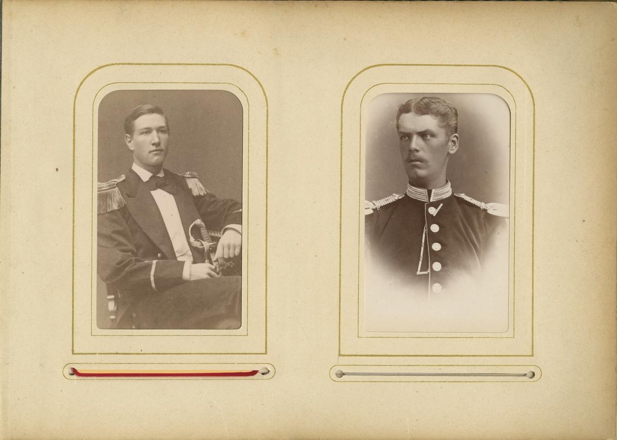 Porträtt av Carl Edvard Ulff, officer vid Flottan.