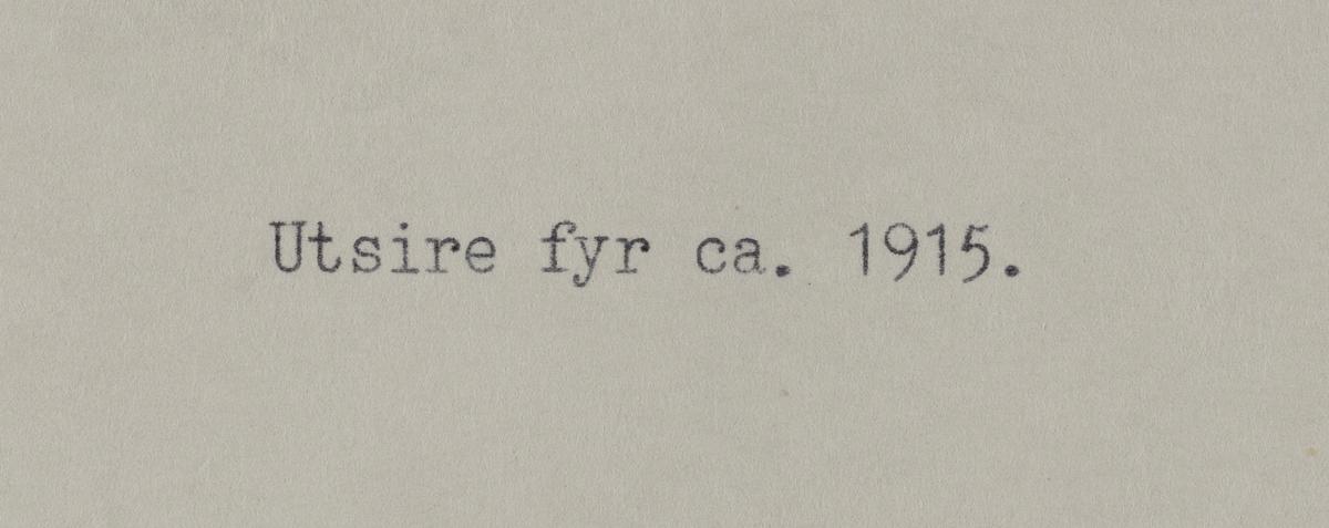 Omegnen III -Utsira fyr ca.1915