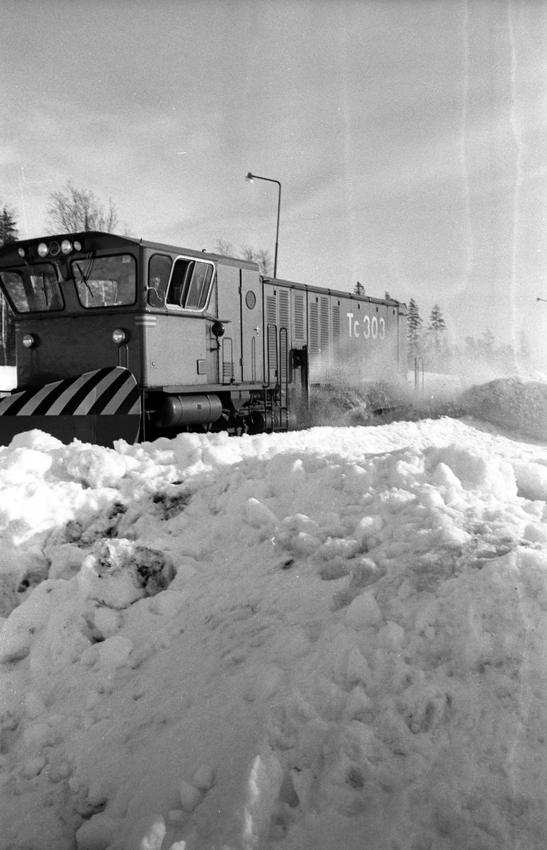 Statens Järnvägar, SJ Tc 303. Snöröjning i Skellefteå.