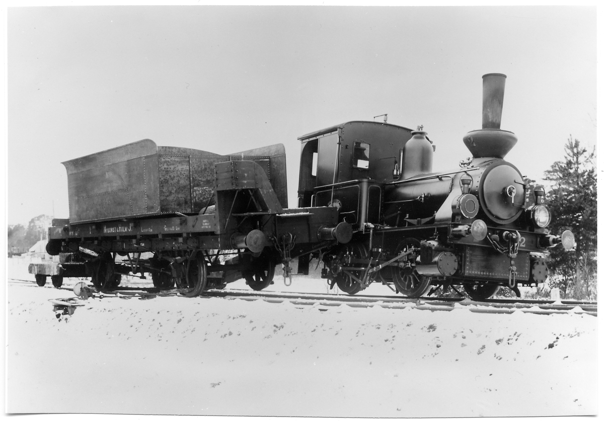 Nydquist & Holms Järnväg, Nohab lok 3 i kollision med en godsvagn.