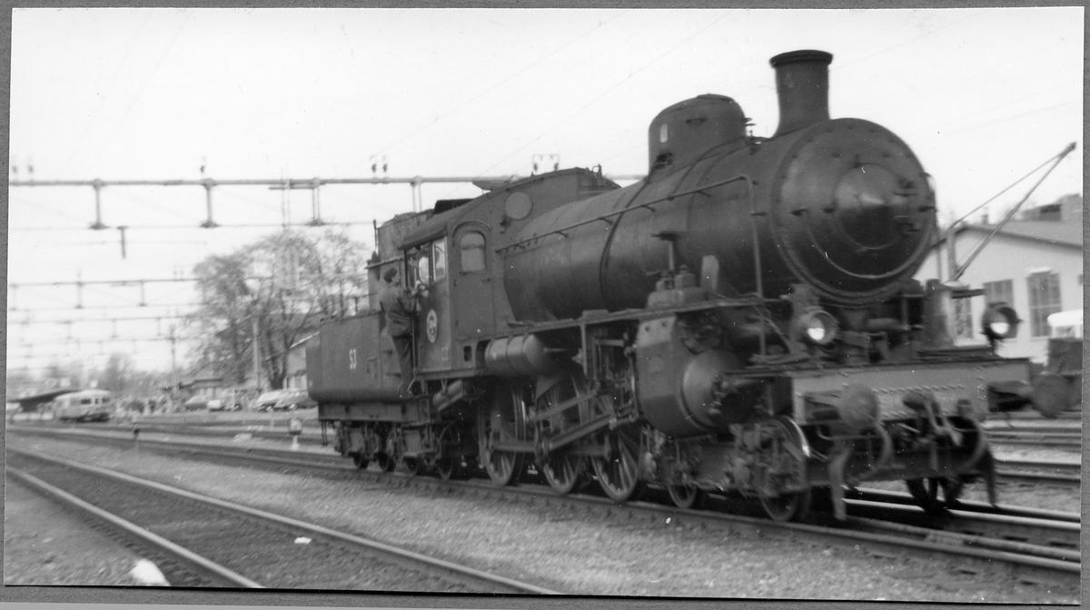 Statens Järnvägar, SJ B 1314 i Ludvika 1970.