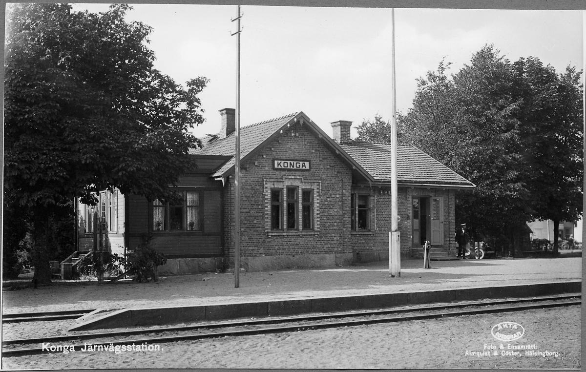 Konga järnvägsstation.