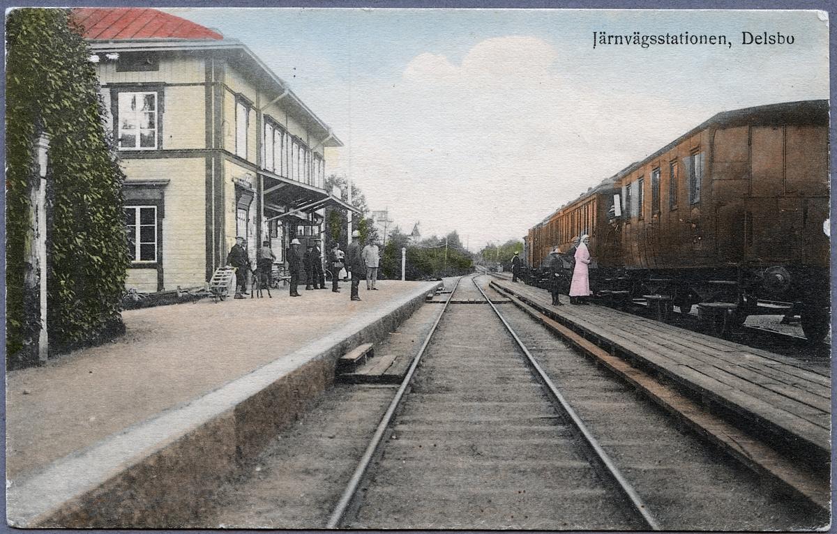 Delsbo Järnvägsstation.