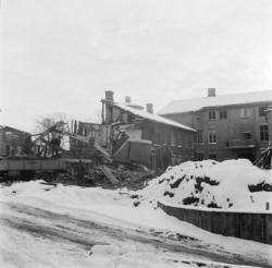 Vänersborg. Fastighet på Drottninggatan 40 rivs
