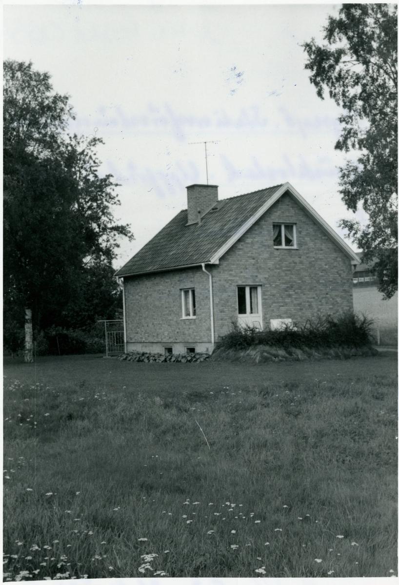 Vetlanda - Sävsjö Järnväg, HvSJ, Myresjö stationsföreståndarehus tjänstebostad. Uppförd år 1954. E H. Myresjöhus. Nedlagd av bandelen Sävsjö Vetland Målila. 1961-09-01.