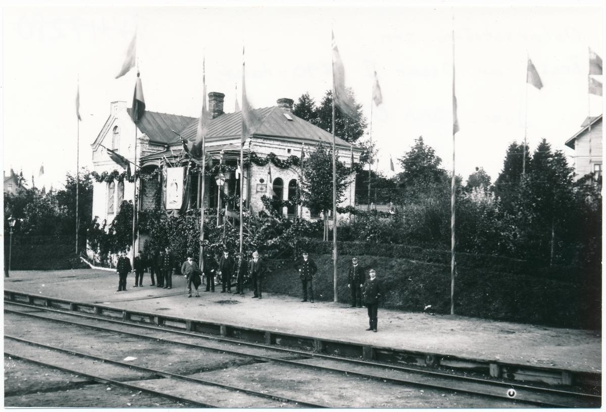 Halmstad - Nässjö Järnväg, HNJ, Besök av Oscar 2 1890- talet.