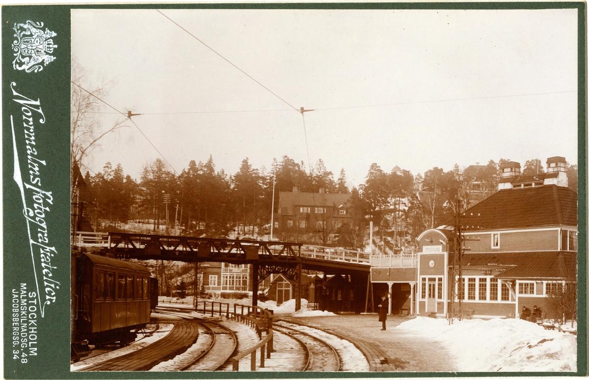 Stocksund station Stockholms - Roslagens Järnvägar, SRJ.