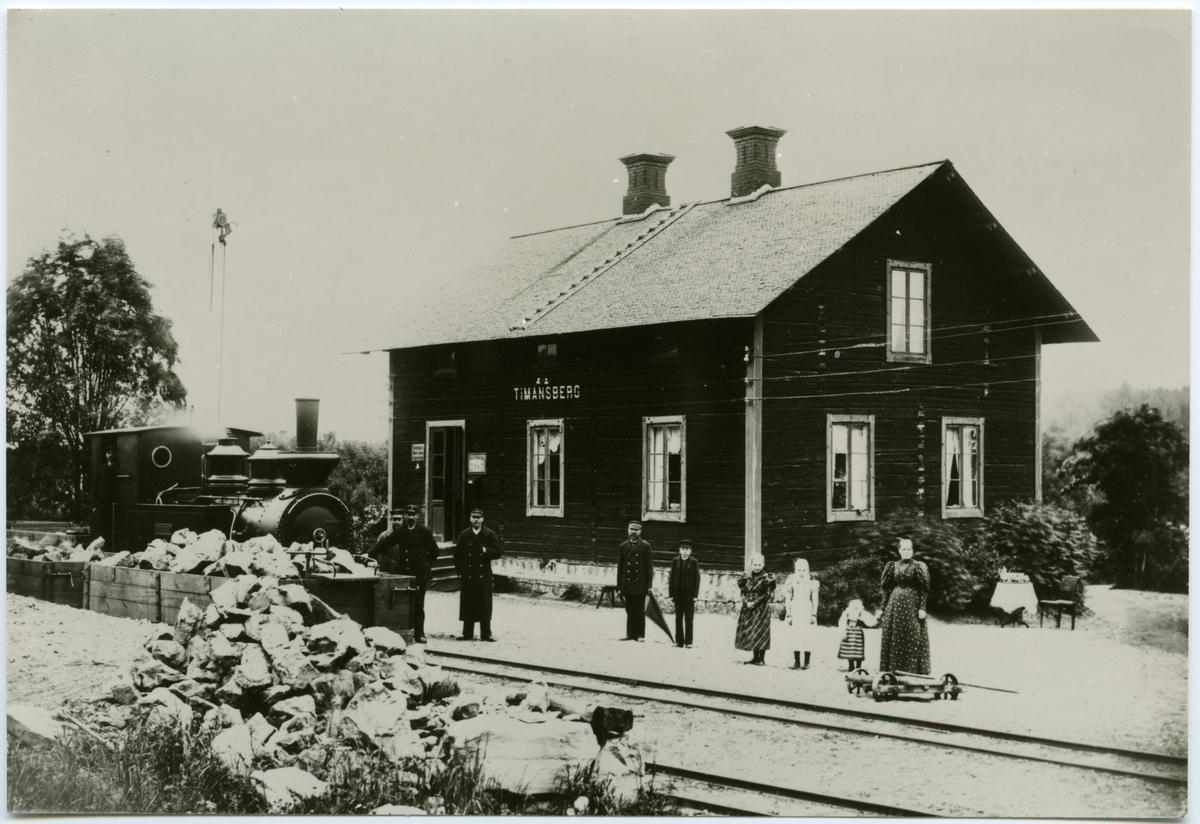 "Bredsjö - Degerfors Järnväg, BDJ. BDJ lok 3 ""Striberget"". Skrotad 1936."