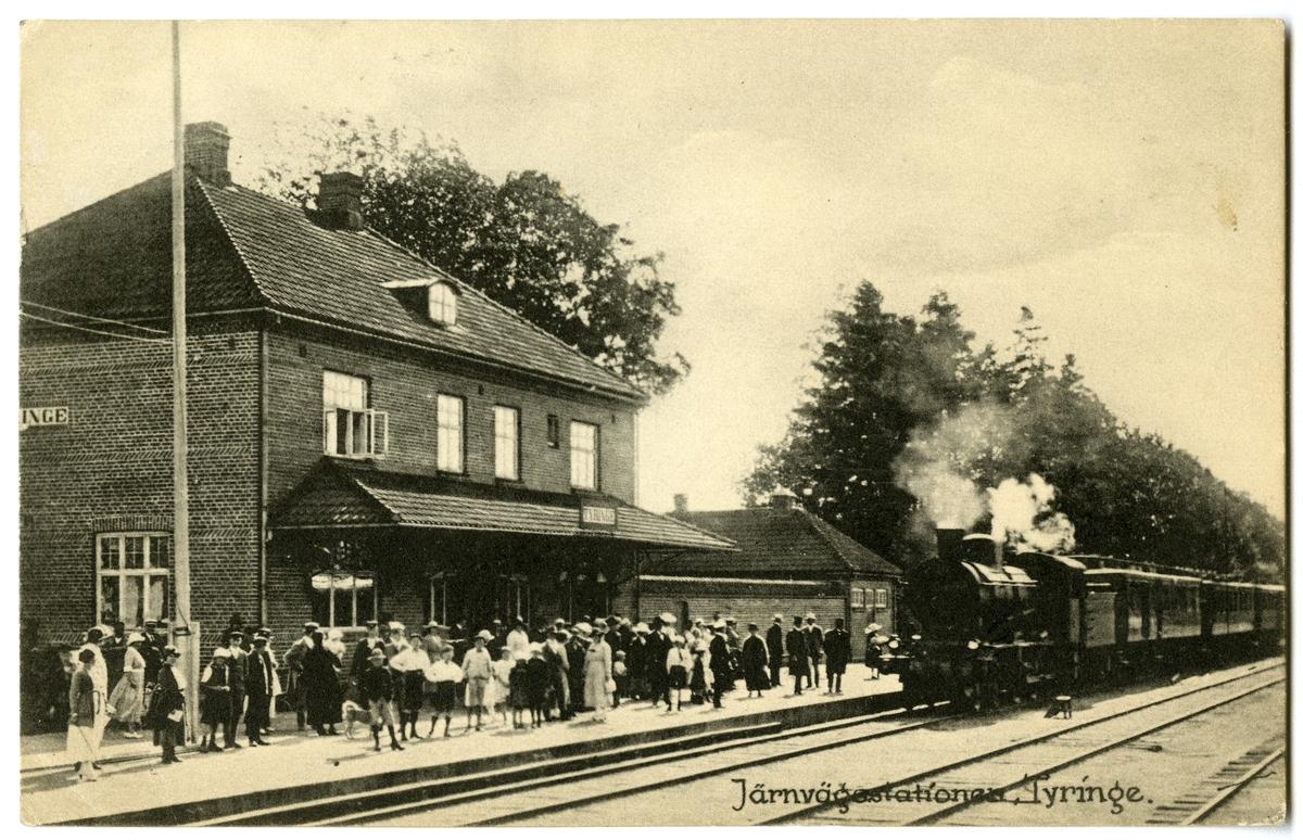 Tyringe station. Stationshuset byggt 1912-1913.