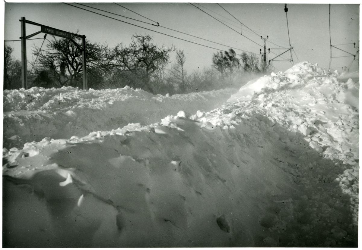 Snöstorm lamslår Skåne 1942.