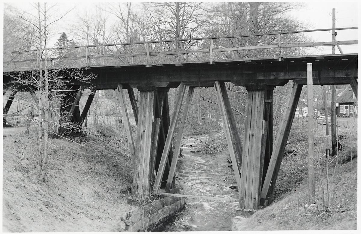 Sveriges äldsta järnvägsbro i trä.