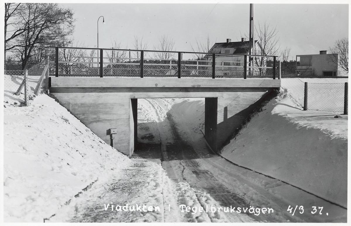 Viadukten vid Tegelbruksvägen i Falkenberg.