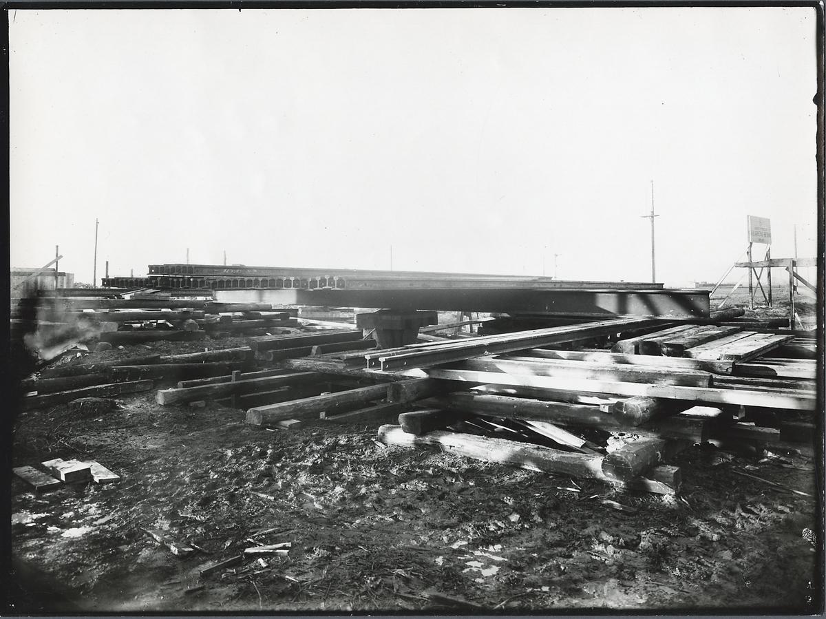 Provbelastning vid Sjölundaviadukten i Malmö.