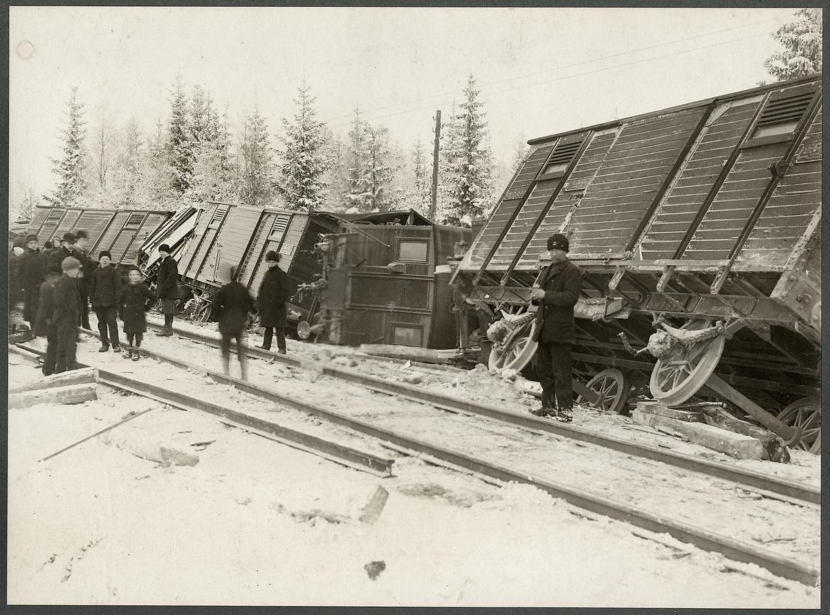 Tåguspårning vid Lidnäs, 1912.