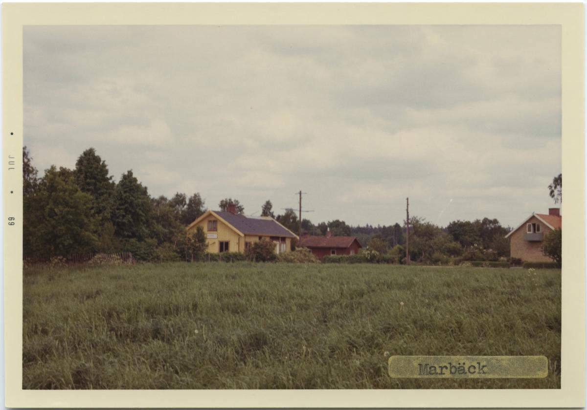 Marbäck station byggd år 1889, såld med mark 1967.