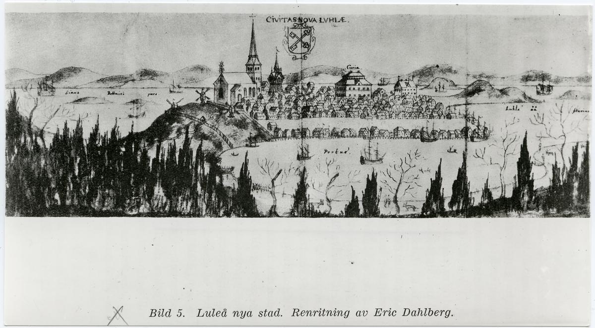 Luleå stad på 1690-talet.