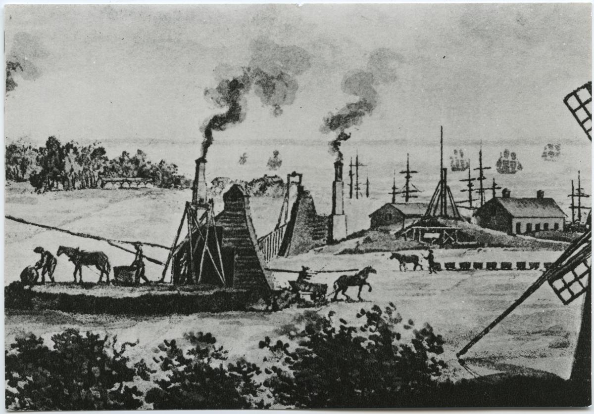 Från stenkols gruvan Gustaf IV Adolph vid Höganäs