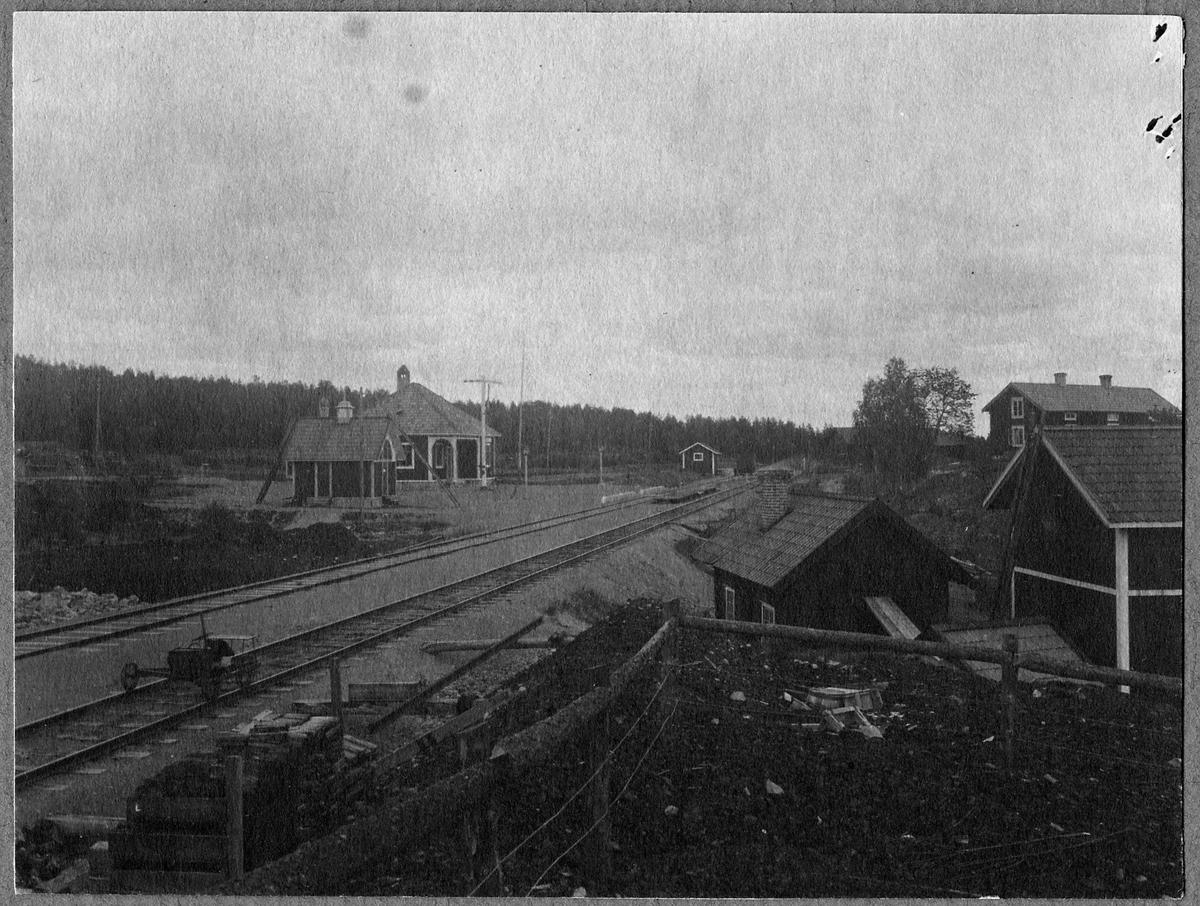 Arvslindan station och bangård.