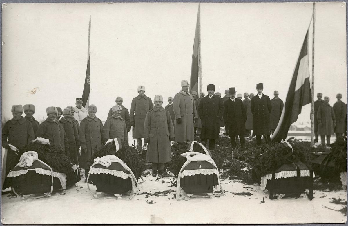 Invalidbegravning i Haparanda 1917-02-20.