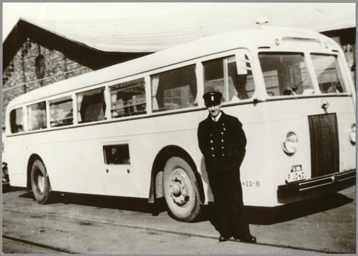 Statens Järnvägar, SJ Buss 422-B,  före detta Varberg - Borås - Herrljunga VBHJ Buss.