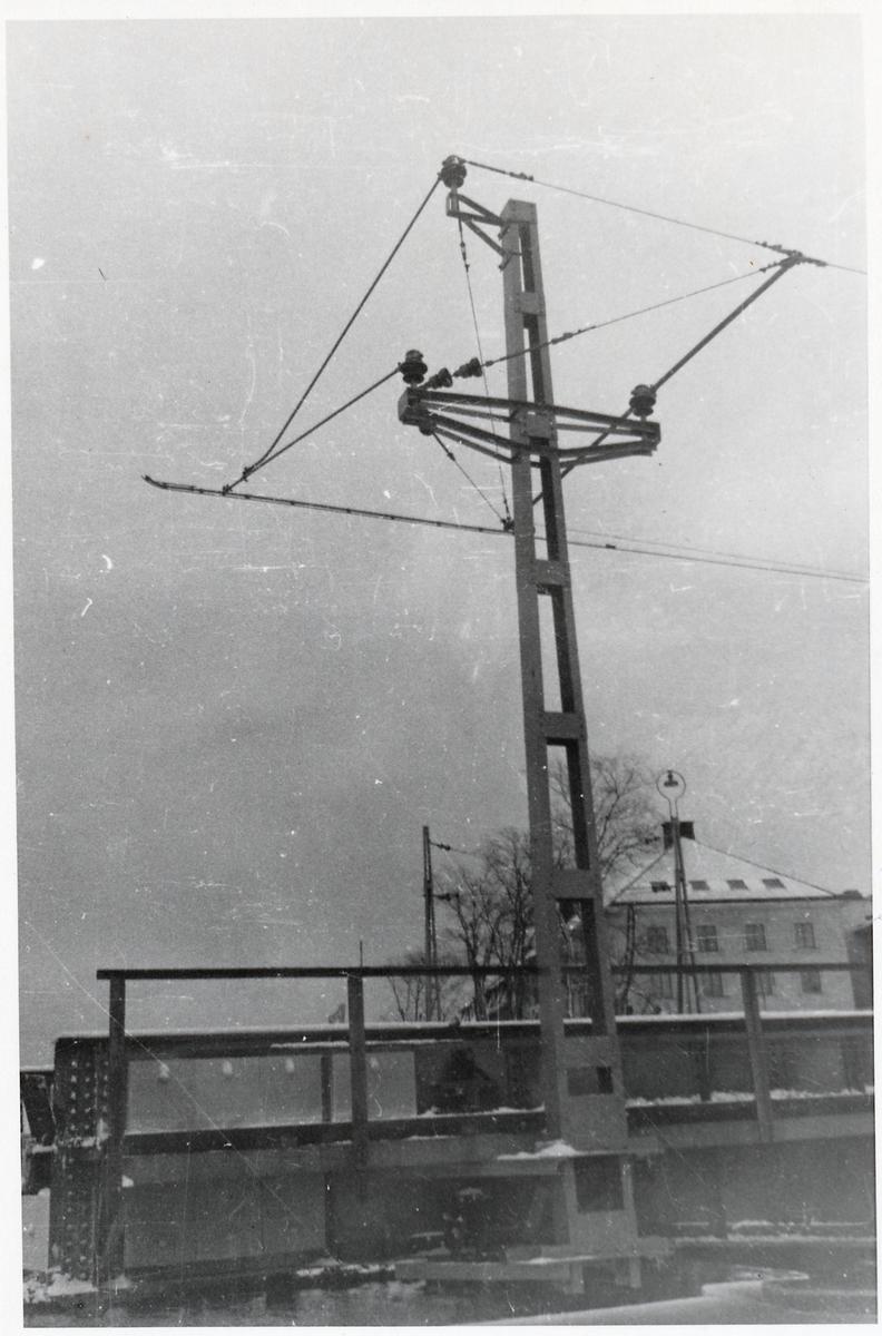 Svängbron i Jönköping vid tiden för elektrifieringen.