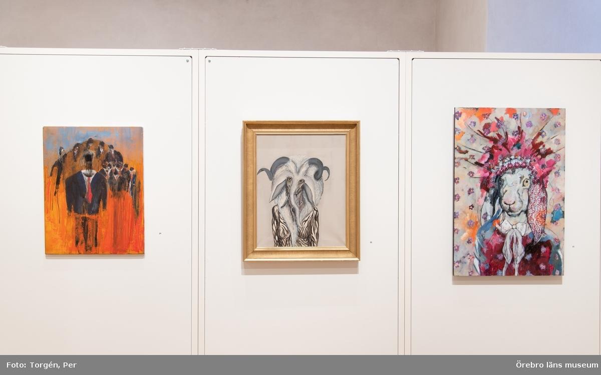 Länets konst 2018 i vasasalen på Örebro slott. Länets konst är en salong som liksom tidigare år är öppen för alla som är verksamma inom konst med anknytning till länet – proffs och amatörer.