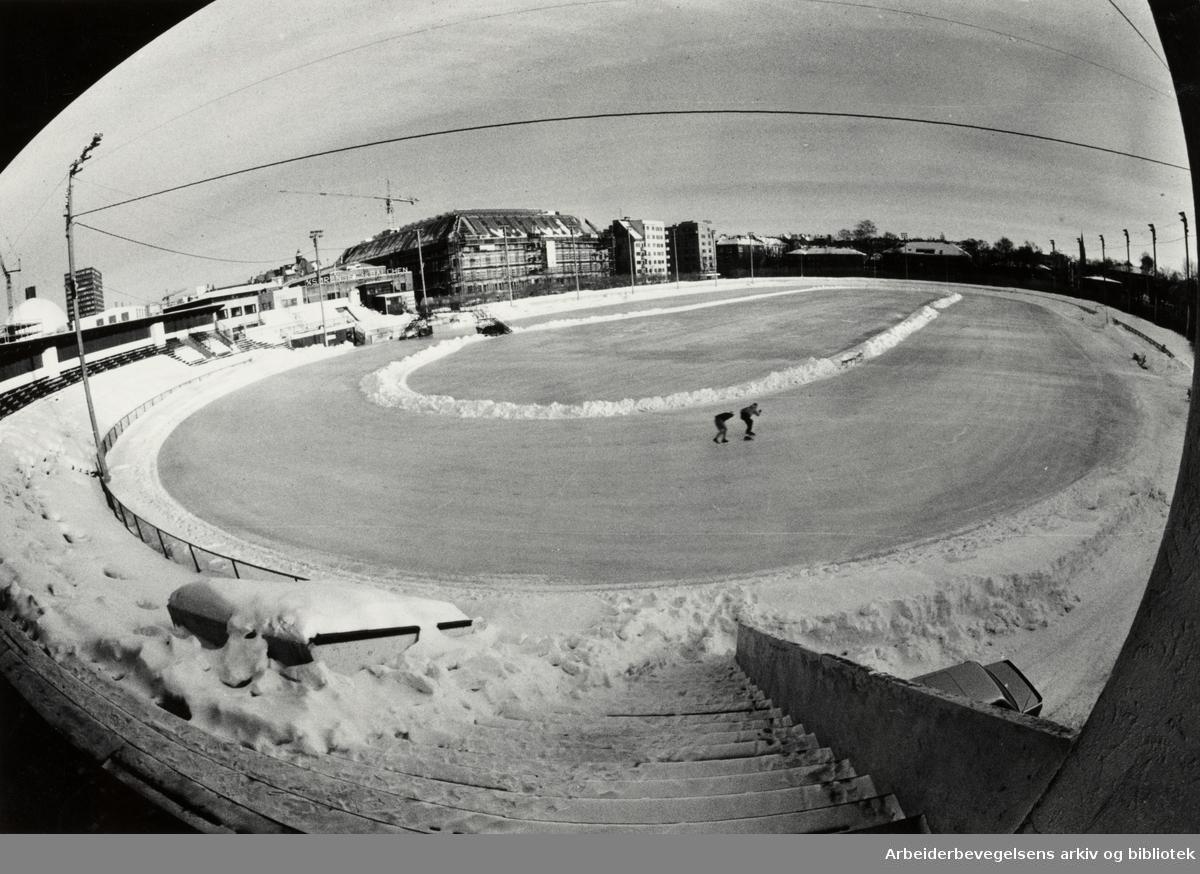 Frogner Stadion. Januar 1987