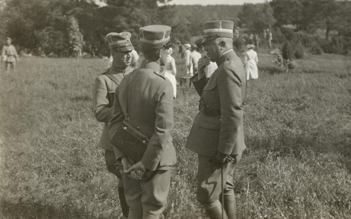 Landstormens lägerkurs i Strängnäs 12-21.6.1931.