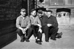 Reportagebilder om arbetarna på Svartviks sulfitfabrik.