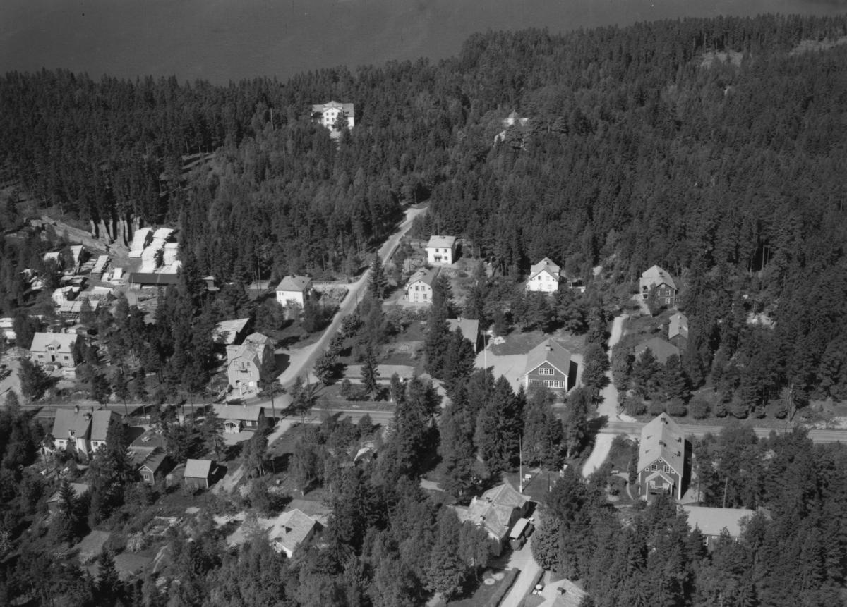Flygfoto över Sunhultsbrunn, Aneby kommun i Jönköpings län. Nr P 180