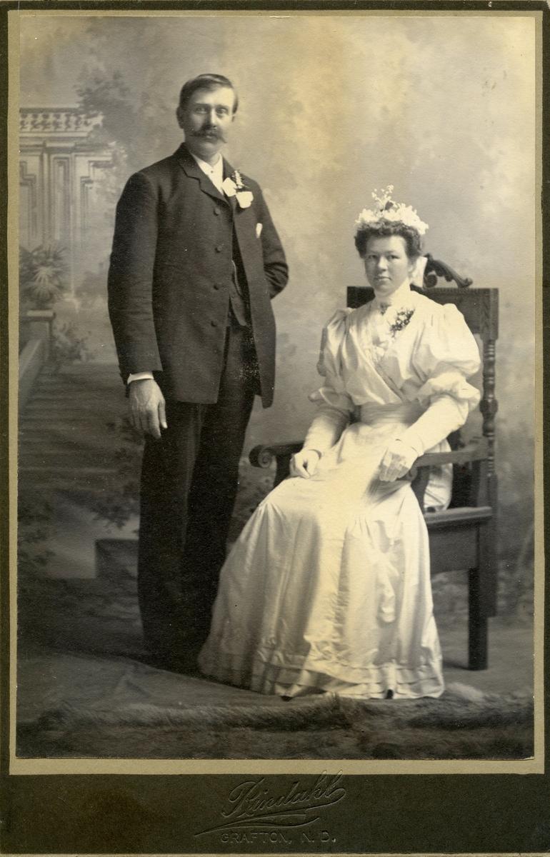 Brudebilete av Bella og Gunnar Gundersen, USA