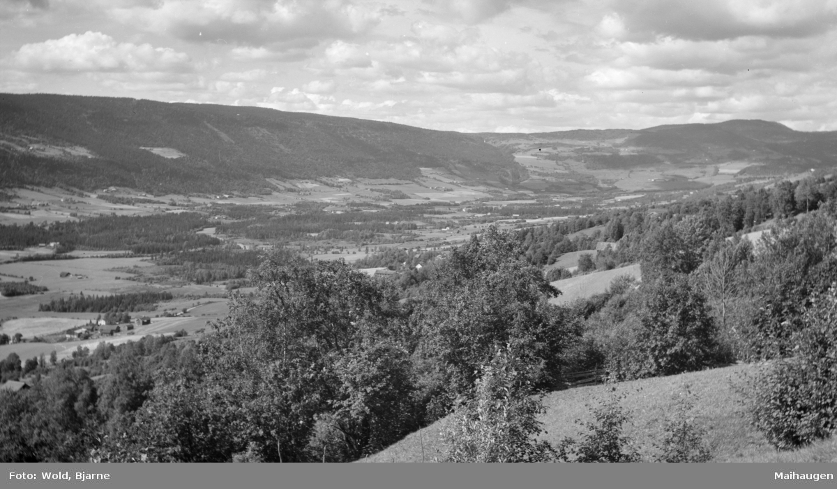 Østre Gausdal, utsikt fra Øverbygda ved Nordre Einstad
