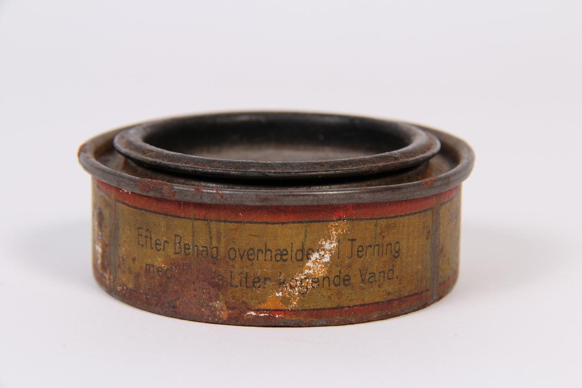 Liten boks som tidlegare innehaldt buljong.
