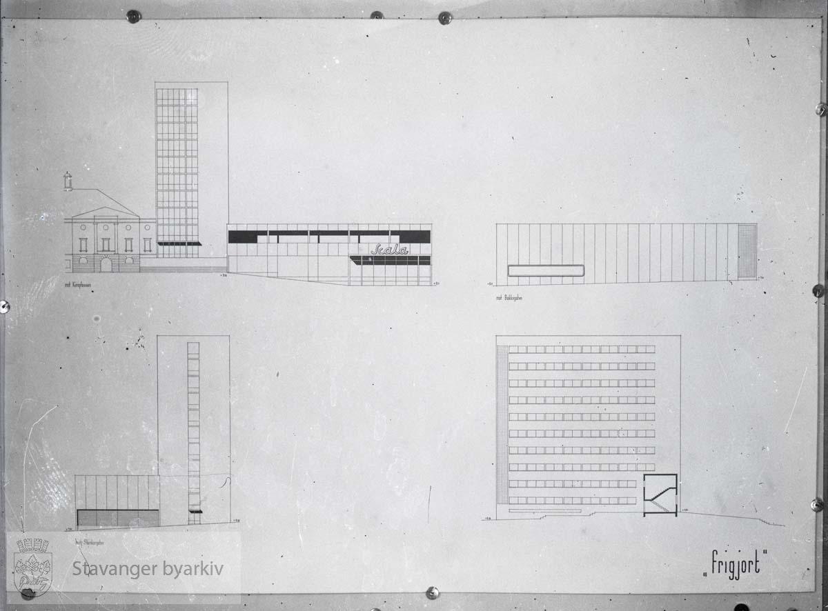 I anledning arkitektkonkurransen til nytt kinobygg, 1939.