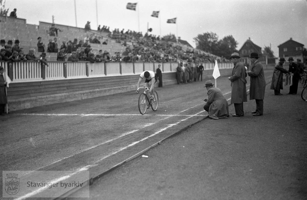 Syklist på Stavanger Stadion
