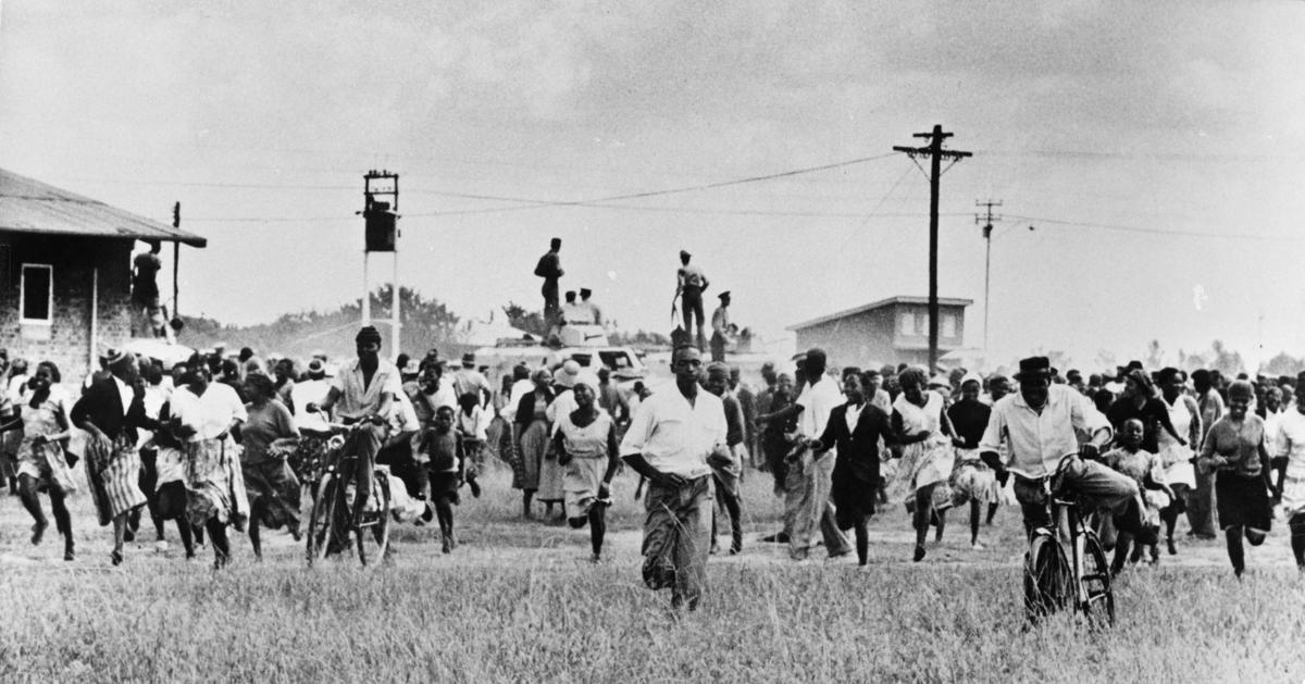 """""""Krisefondet for Sørafrika, Demonstrasjon, Terror mot negre"""""""