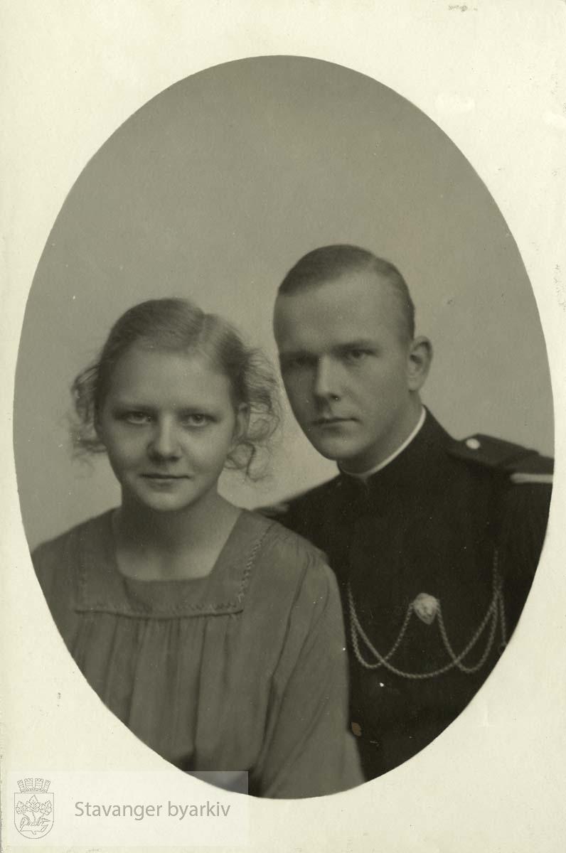 Portrett av Haakon og Ellen Monsen