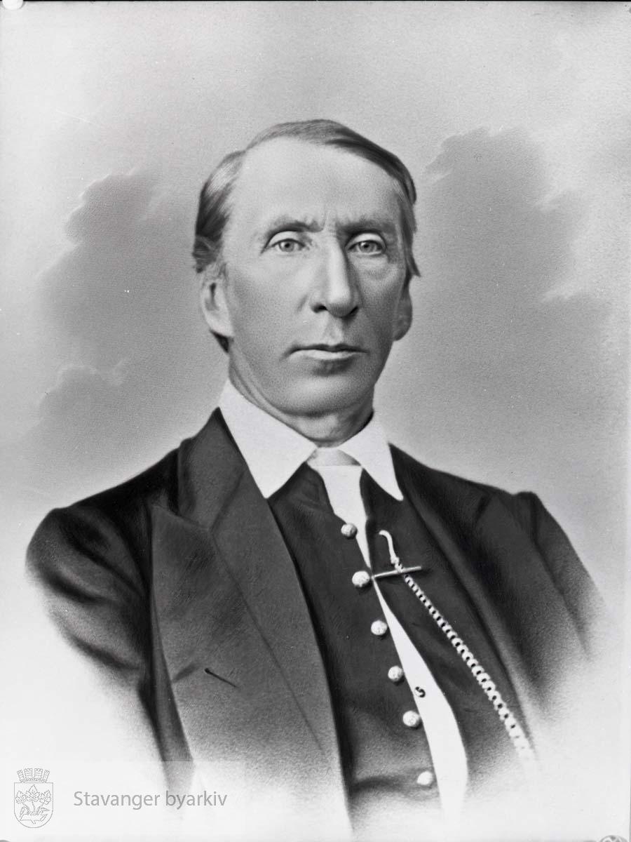 Ordfører i Stavanger 1852-1859. Født i Skjeberg. Bodde i Stavanger 1849-1861 og var underrettssaksfører. Stortingsrepresentant for Stavanger amt 1859-1860. Senere Sorenskriver på Sunnmøre og i Hardanger.