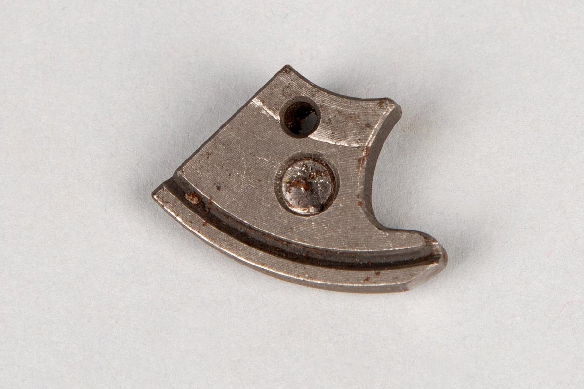 Mulig fot eller innsats til symaskin  Støpt eller dreid