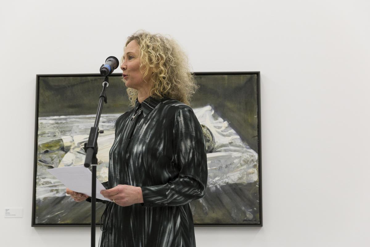 Bilder fra åpningen 23. mars 2019. Åpningstale av Tone Hansen, direktør ved Henie Onstad Kunstsenter. Foto: Christina Undrum Andersen / TKM. (Foto/Photo)