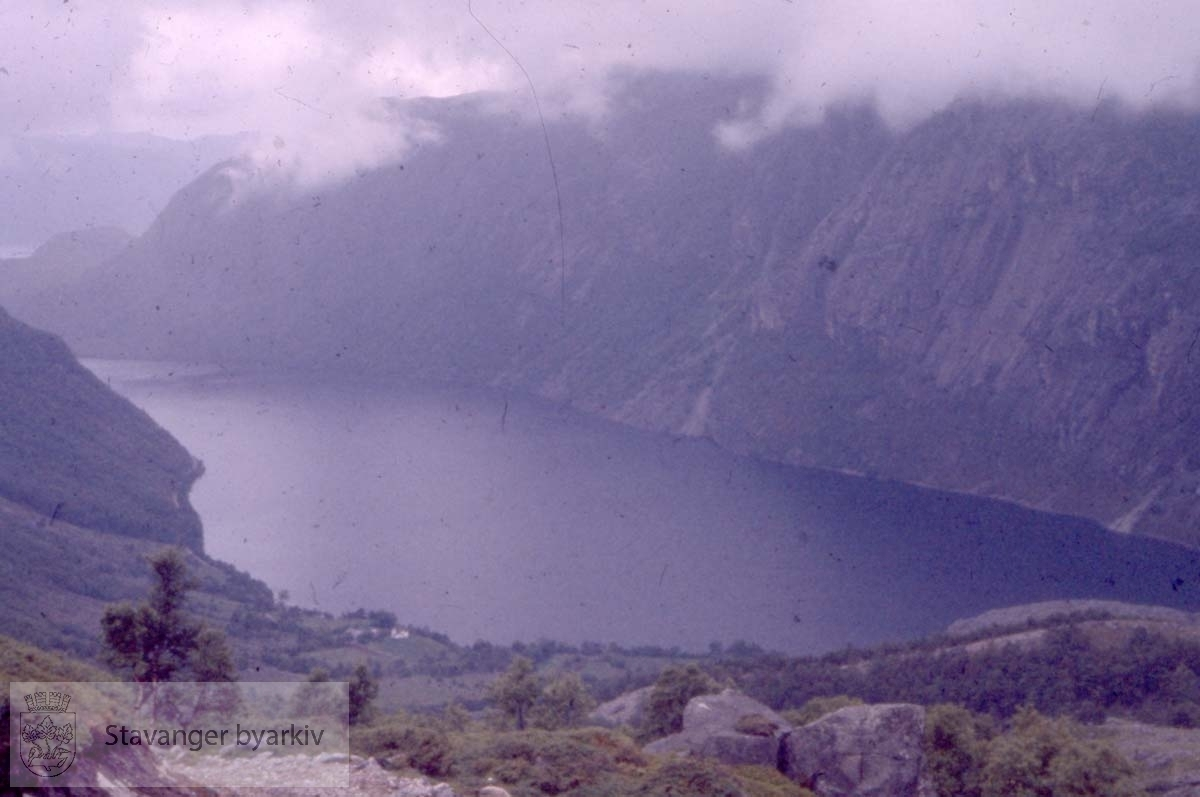 Utskikt over fjord