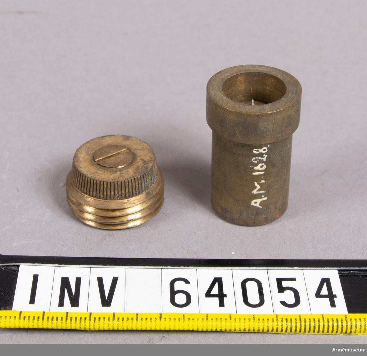 Grupp F II. Till granat till bakladdningskanon av Krupps modell 1876. Delar saknas.