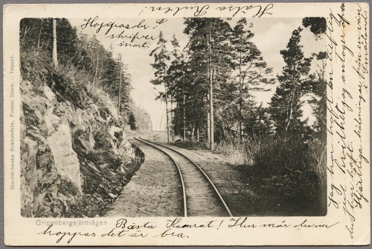 Efter linjen på Jönköping - Gripenbergs Järnväg.