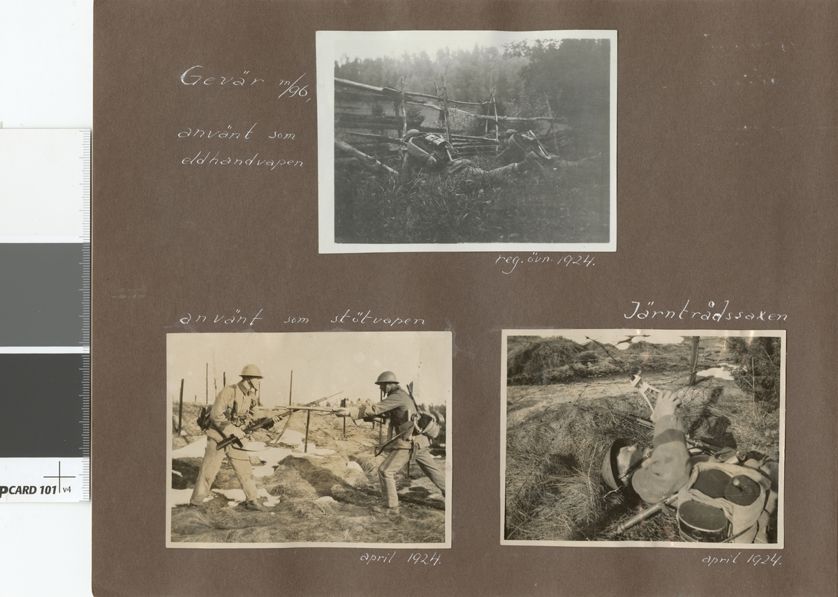 "Text i fotoalbum: ""Regementetsövning 1924""."