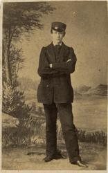 Ungdomsporträtt av Emil Haasum, son till guvernören på Saint