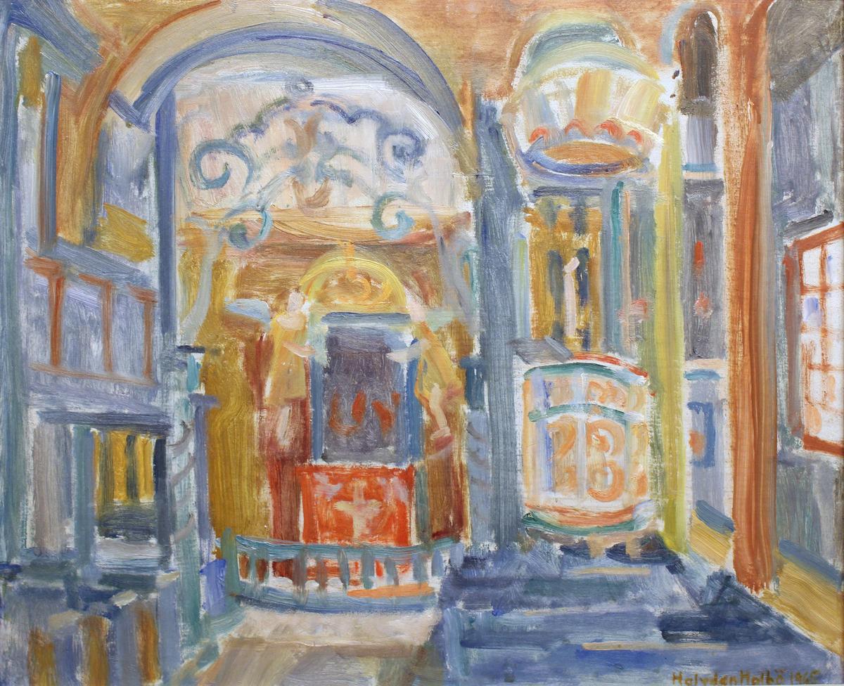 Interiørmotiv fra kirke