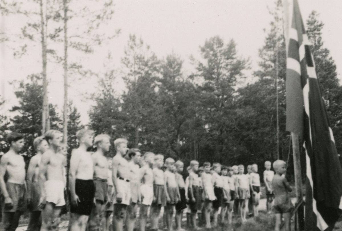 Camp for boys at Kongsberg the first year of occupation