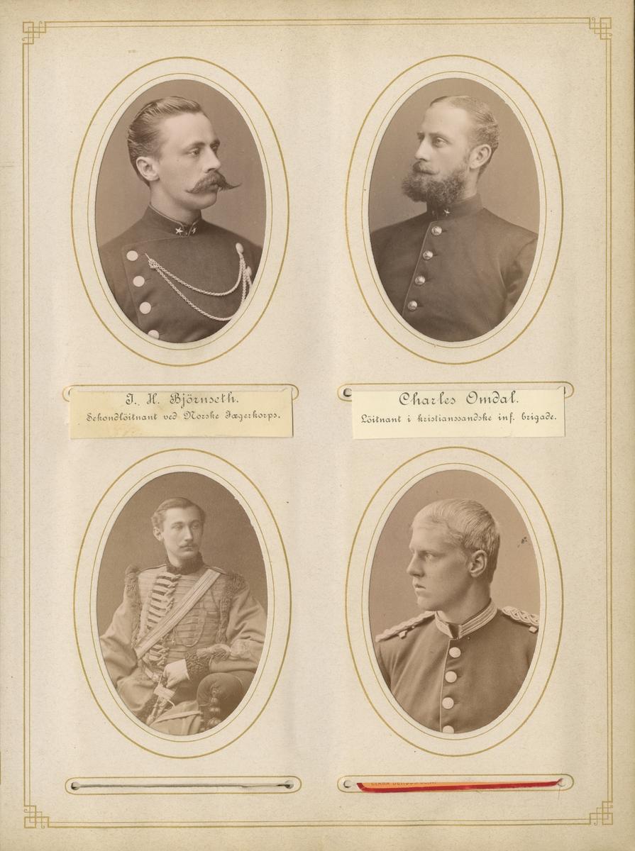 Porträtt av Charles Omdal, löjtnant i kristianssandska infanteribrigaden.